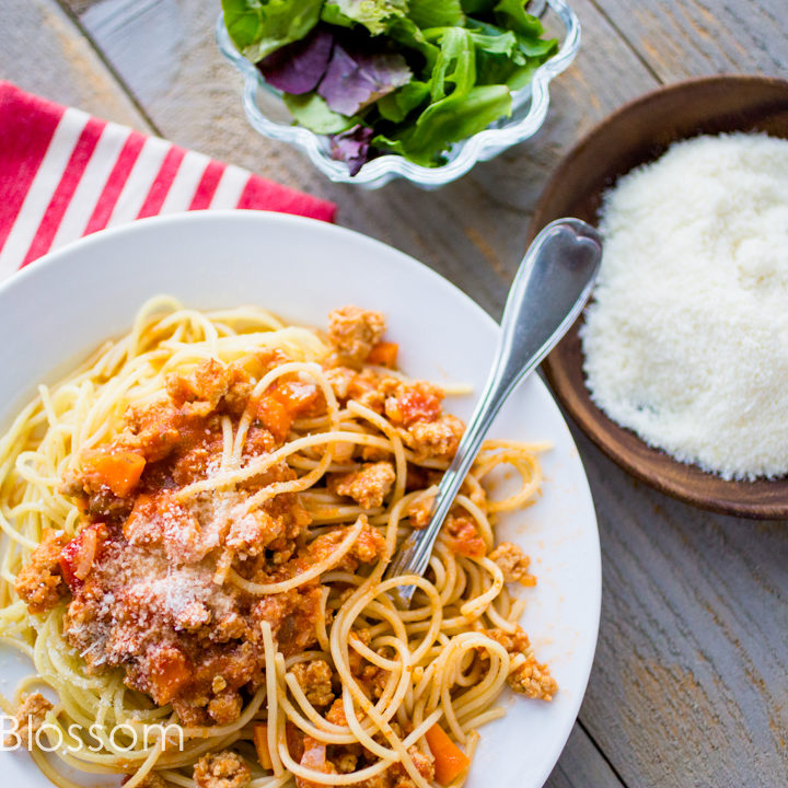 weeknight chicken bolognese sauce