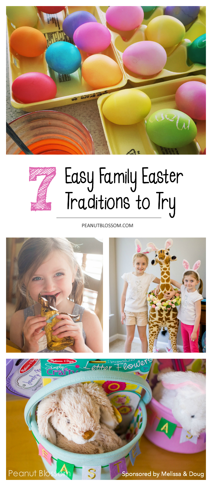 7 fun Easter ideas that you'll want for annual traditions. Love these sweet and simple Easter ideas. What a great way to make the holiday memorable for the kids. #easterideas #eastertraditions #easterbaskets