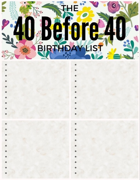 40 before 40: blank template