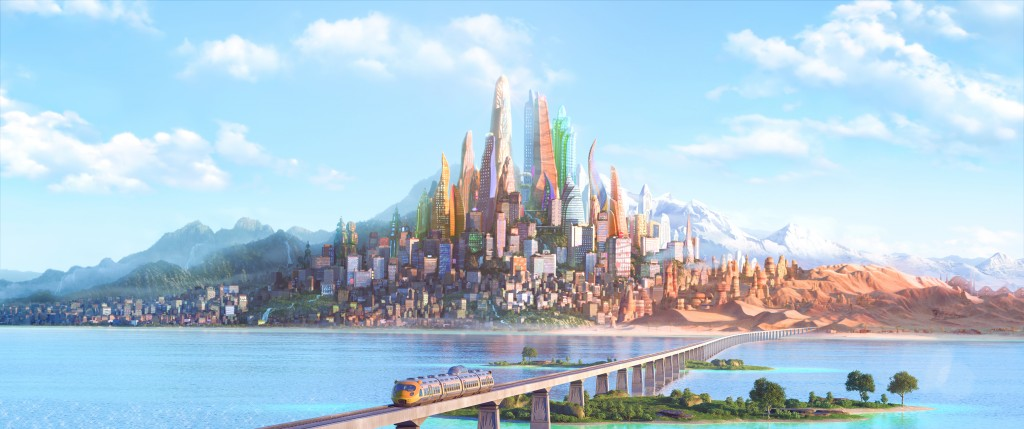 "ZOOTOPIA – The modern mammal metropolis of Zootopia is a city like no other. Comprised of habitat neighborhoods like ritzy Sahara Square and frigid Tundratown, it's a melting pot where animals from every environment live together—a place where no matter what you are, from the biggest elephant to the smallest shrew, you can be anything. But when optimistic Officer Judy Hopps arrives, she discovers that being the first bunny on a police force of big, tough animals isn't so easy. Determined to prove herself, she jumps at the opportunity to crack a case, even if it means partnering with a fast-talking, scam-artist fox, Nick Wilde, to solve the mystery. Walt Disney Animation Studios' ""Zootopia,"" a comedy-adventure directed by Byron Howard (""Tangled,"" ""Bolt"") and Rich Moore (""Wreck-It Ralph,"" ""The Simpsons"") and co-directed by Jared Bush (""Penn Zero: Part-Time Hero""), opens in theaters on March 4, 2016. ©2015 Disney. All Rights Reserved."