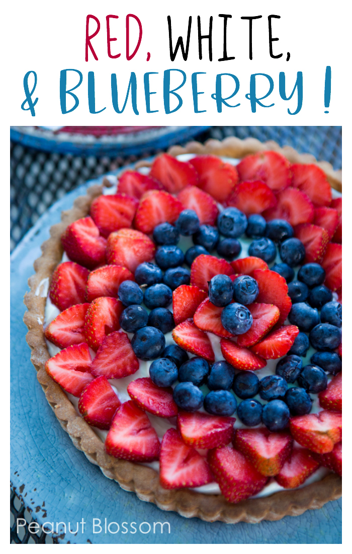 Hooray for the Red, White, and Blueberry & Strawberry Cream Cheese Tart! This is such a cute and easy dessert for the 4th of July or Memorial Day party.