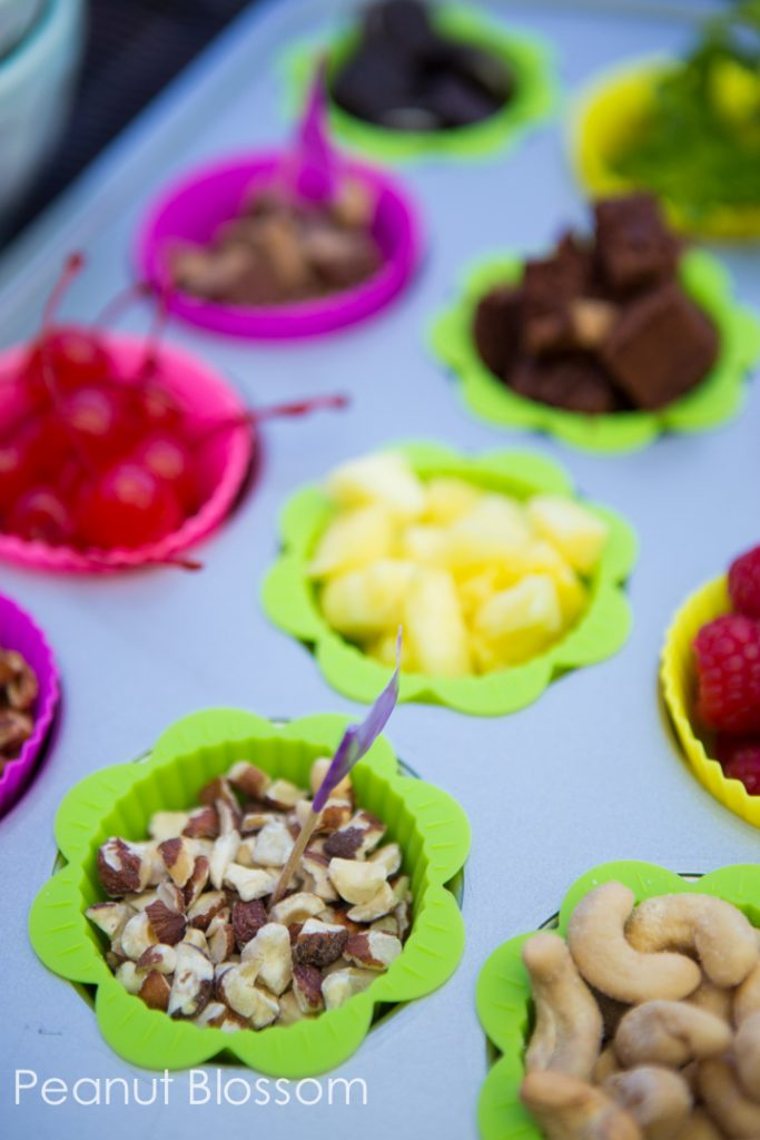 Budget friendly ice cream party buffet