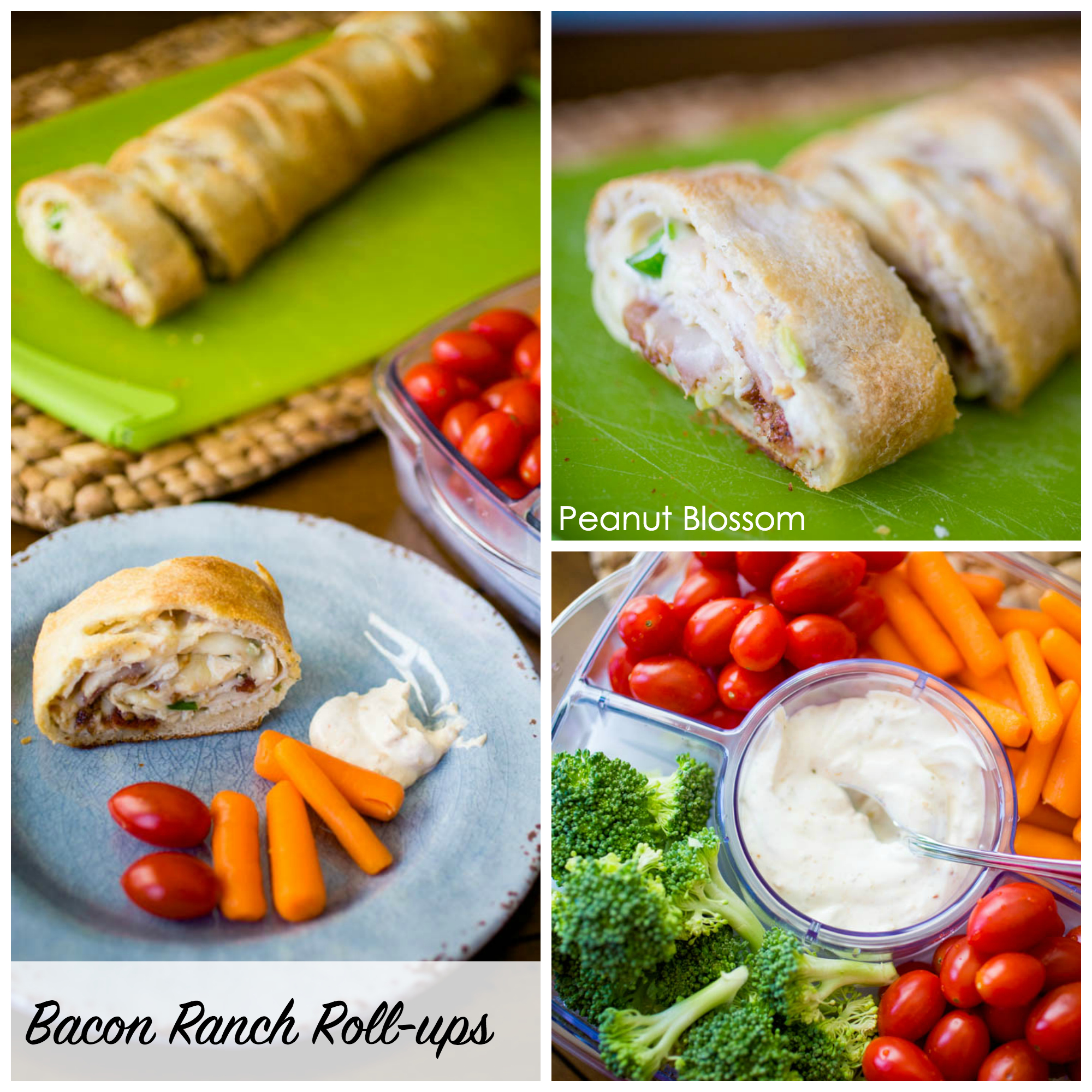 Bacon ranch cheesy chicken roll-ups