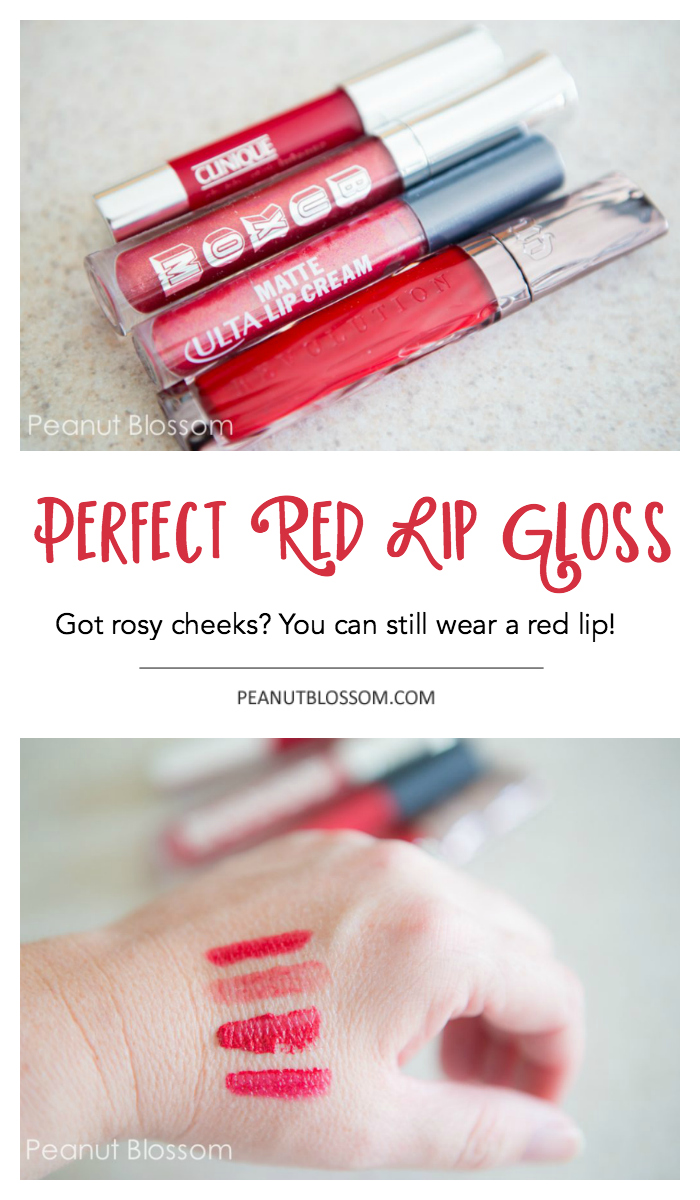 The perfect red lip gloss for Rosacea.