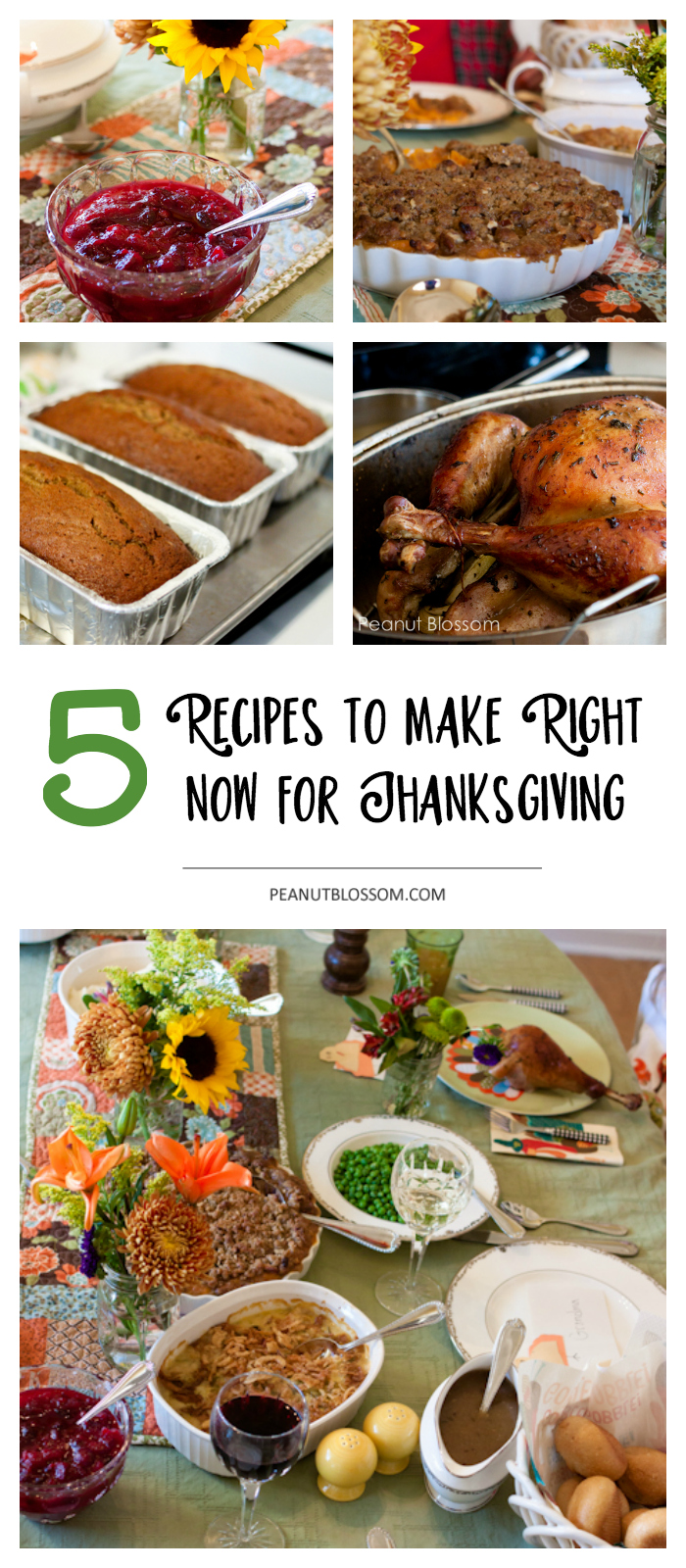 5 prep ahead for Thanksgiving recipes you can make right now