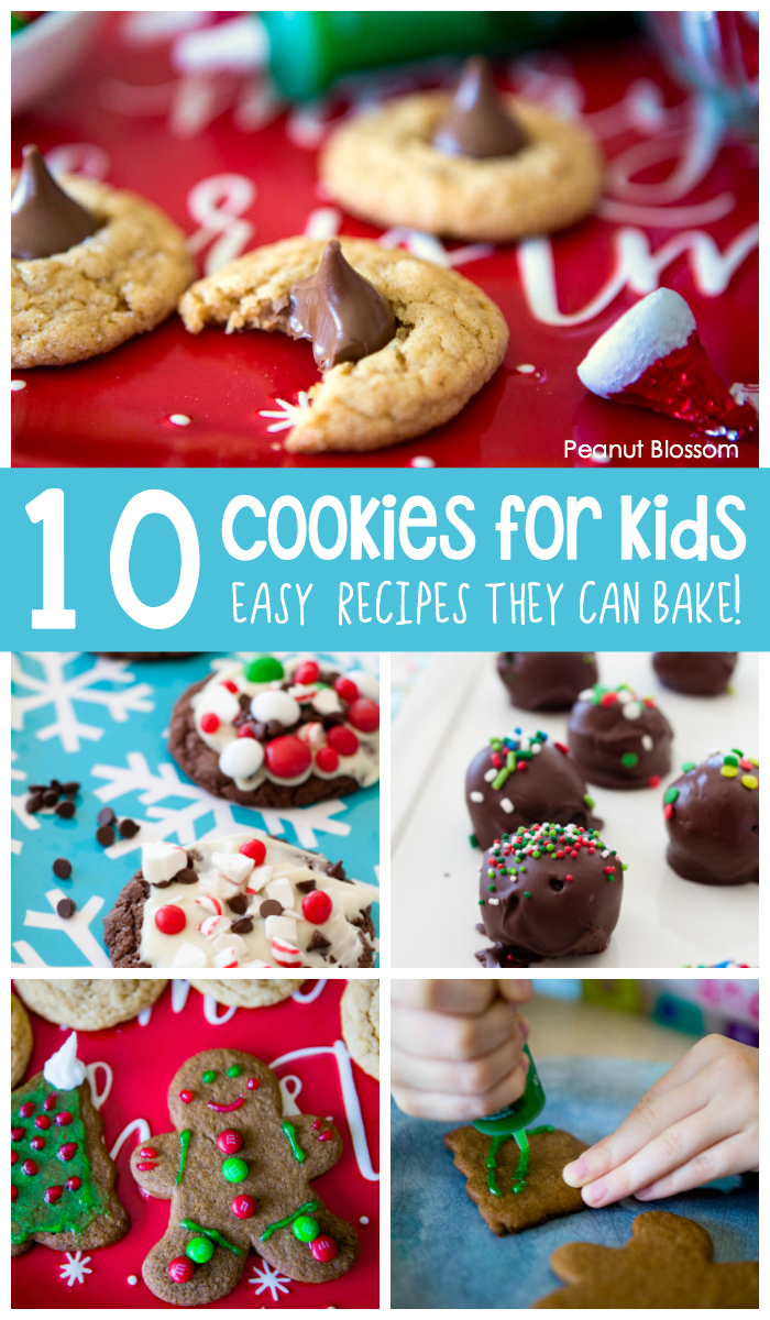 10 Christmas cookies for kids to bake this holiday season. Focus on easy baking so they can have fun decorating.