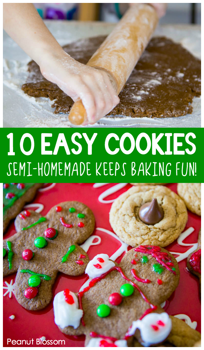 10 super easy Christmas cookies for kids to bake this holiday.