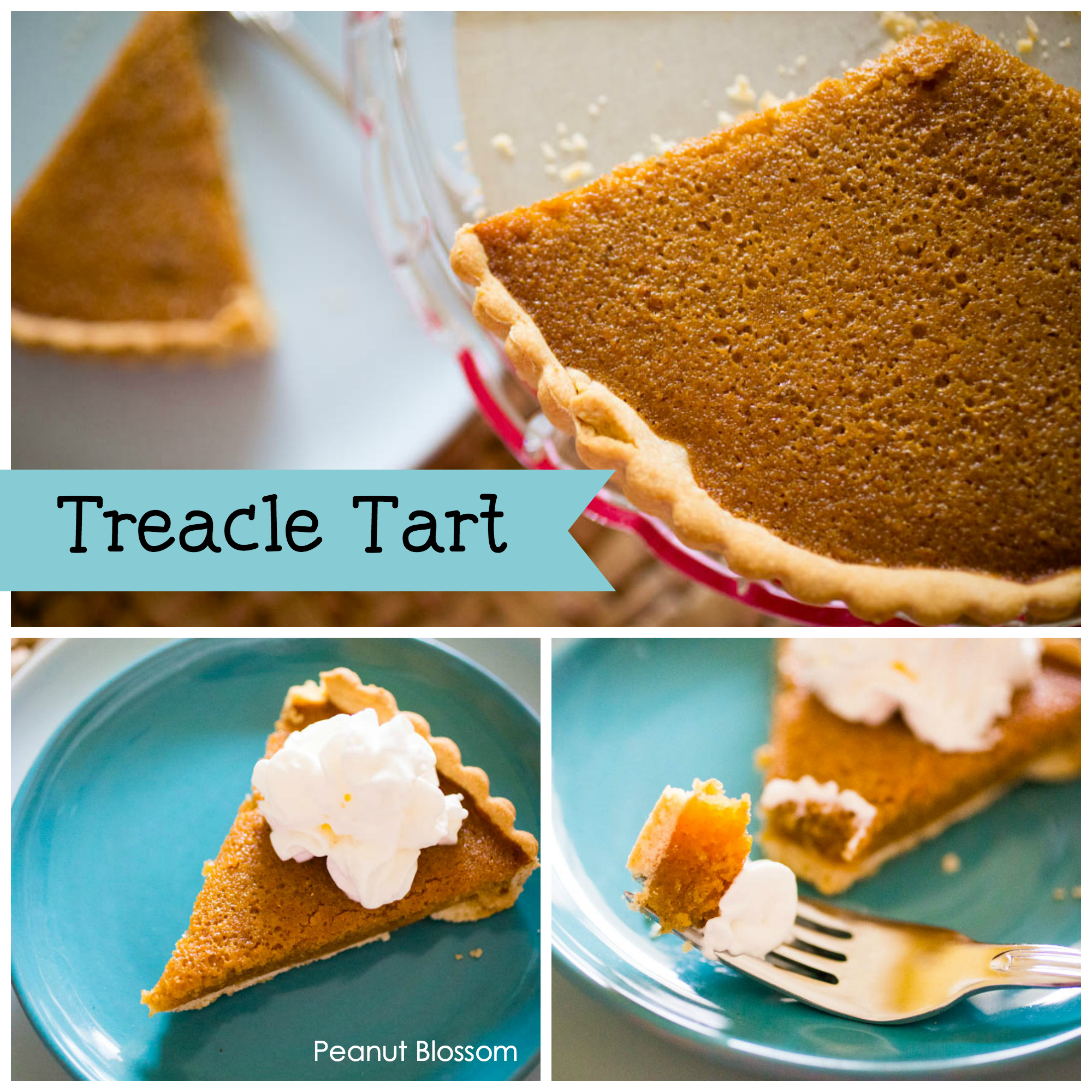 Simple treacle tart recipe, perfect for a British party or Harry Potter party