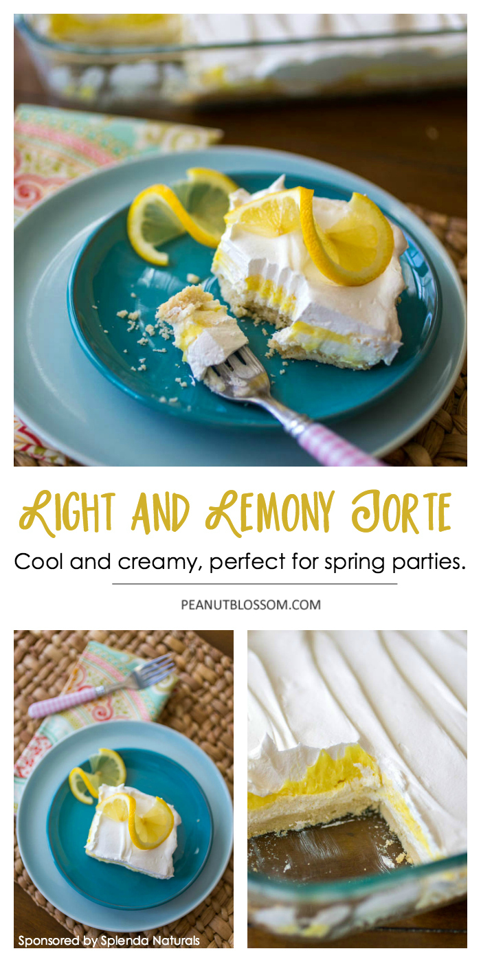 Easy Lemon Torte for Spring