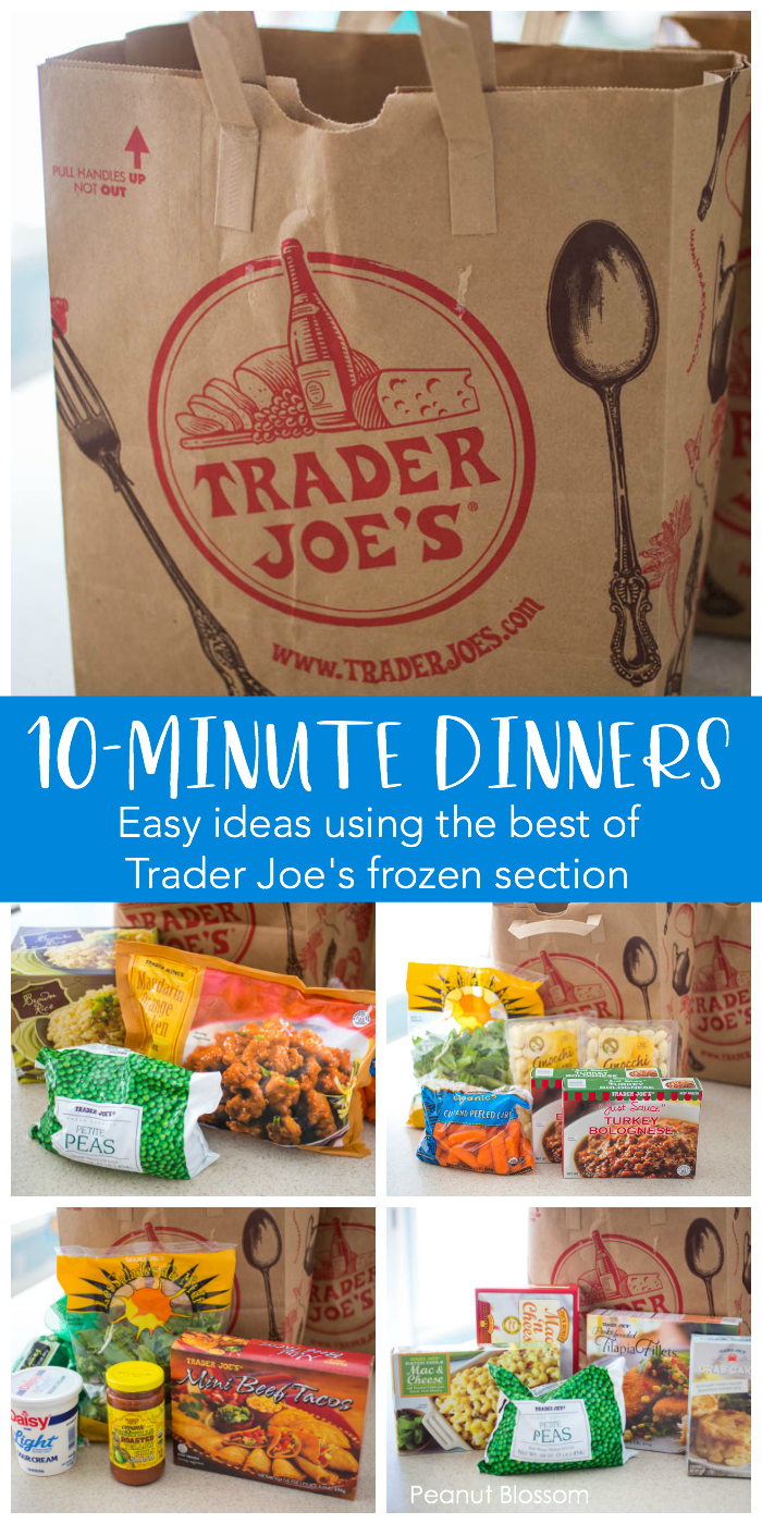 Easy 10-minute Trader Joe's dinner ideas using the very best products from their frozen department.