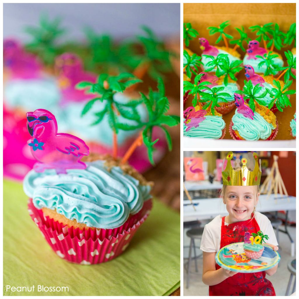 Turning 10 with a pink flamingo tropical party