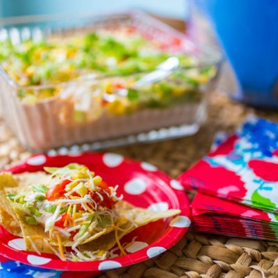 Mom's Kitchen Secrets for making the best ever spicy taco dip with cream cheese