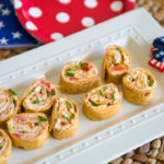 Firecracker Cream Cheese Pinwheel Recipe: a spicy appetizer for a patriotic party