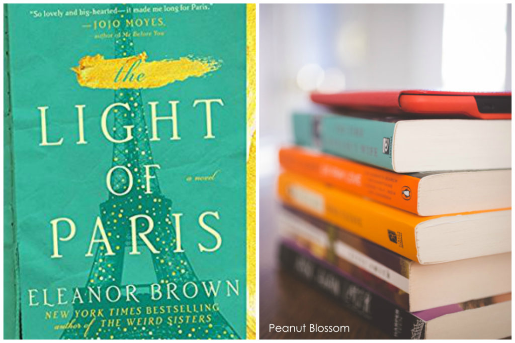 The Light of Paris by Eleanor Brown for the Peanut Blossom Book Club for Recovering Readers August Pick