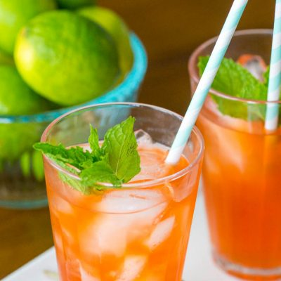 Blood Orange Mojito Mocktails: Looks like fall, tastes like summer!