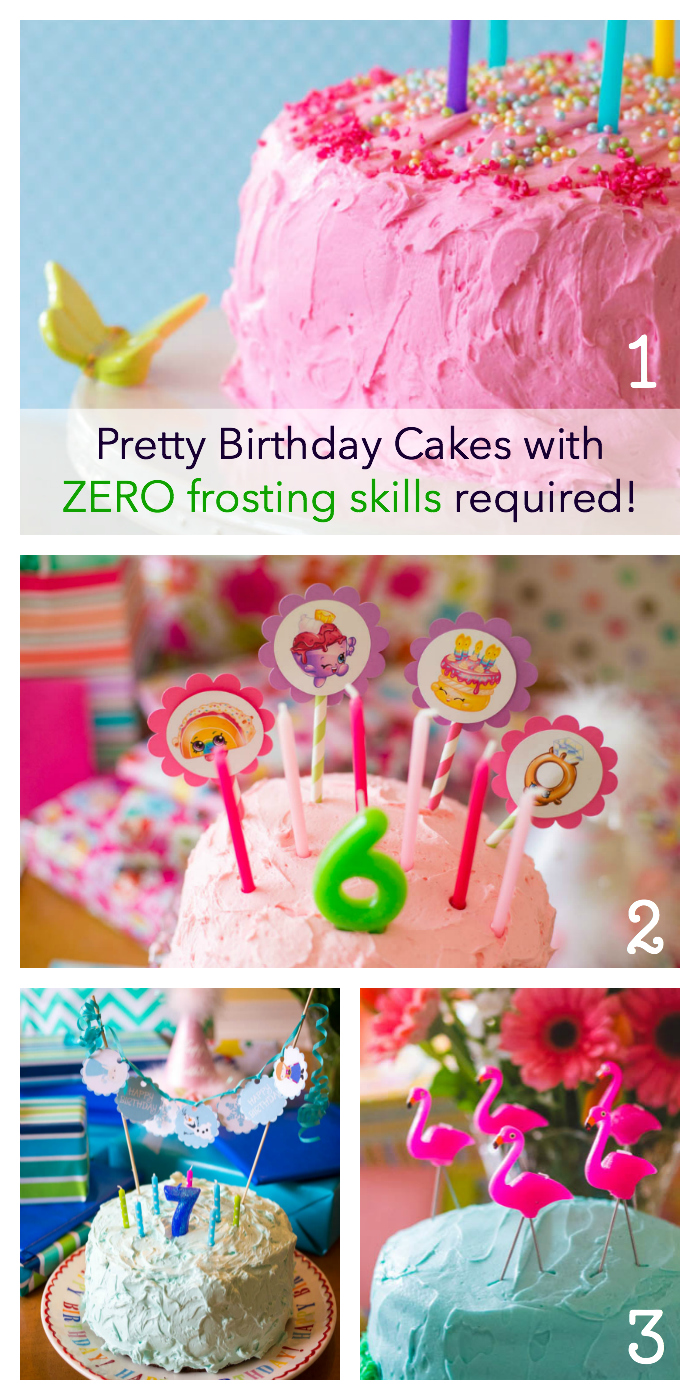 Pretty homemade birthday cake decoration ideas that don't require fancy frosting skills