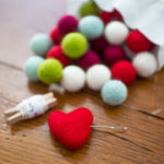 Warm and fuzzy felt ball wreath ornaments that make you want to cuddle your Christmas tree