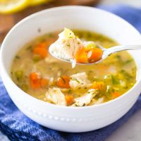 Homemade chicken soup for the flu
