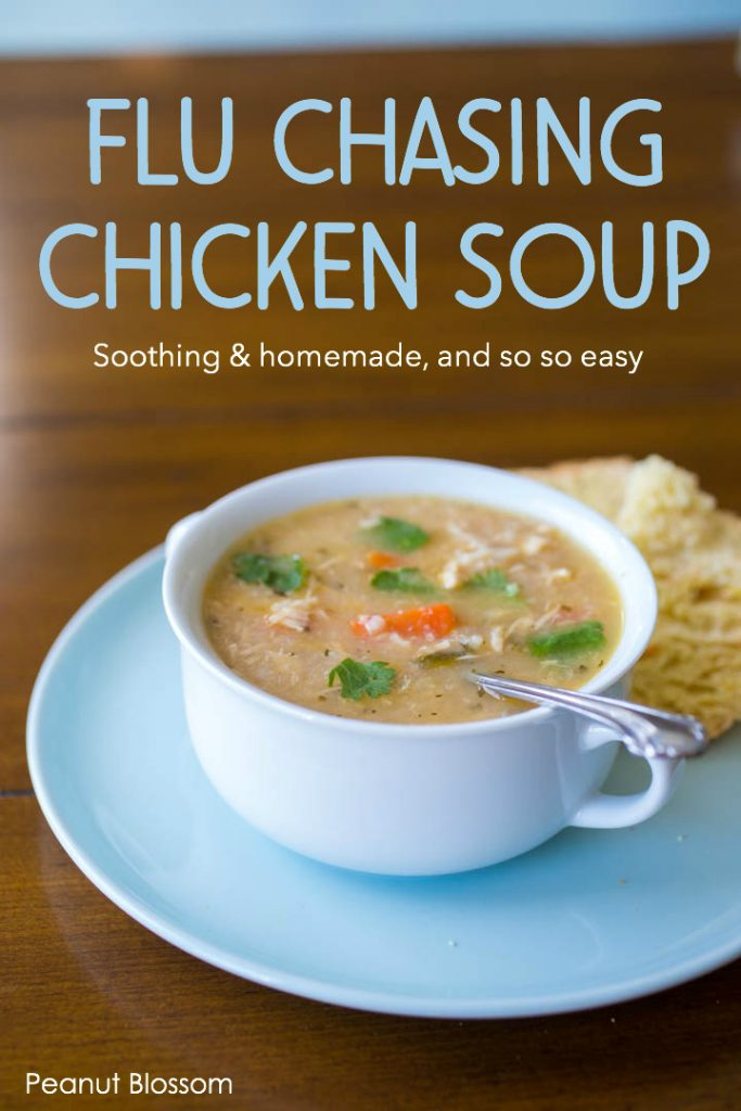 Real homemade chicken soup for cold and flu season