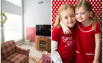 Simple Valentine's Day photos of your kids that you can actually take yourself