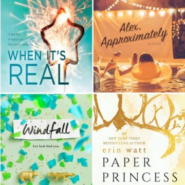 A collage of young adult book covers that are light and fun.