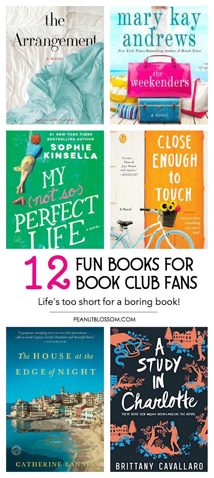 12 fun book club books for a blissful year