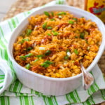 Homemade Mexican Rice with hidden veggies for kids