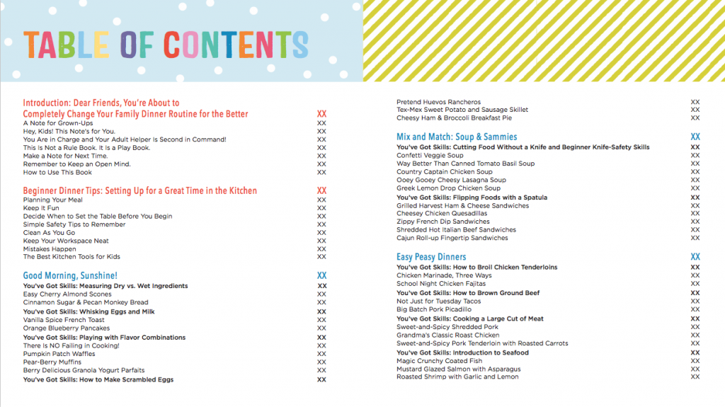 The Ultimate Kids' Cookbook: Table of Contents