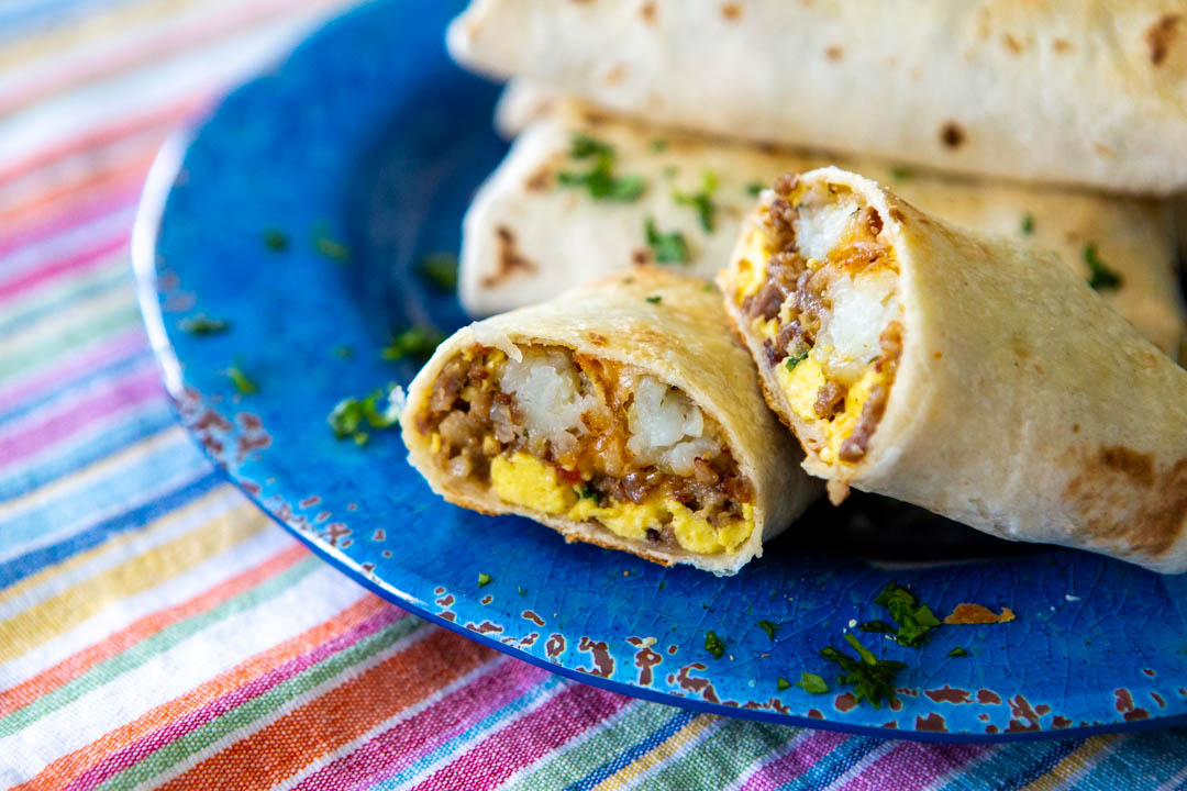 Make ahead breakfast burritos are magic on busy mornings