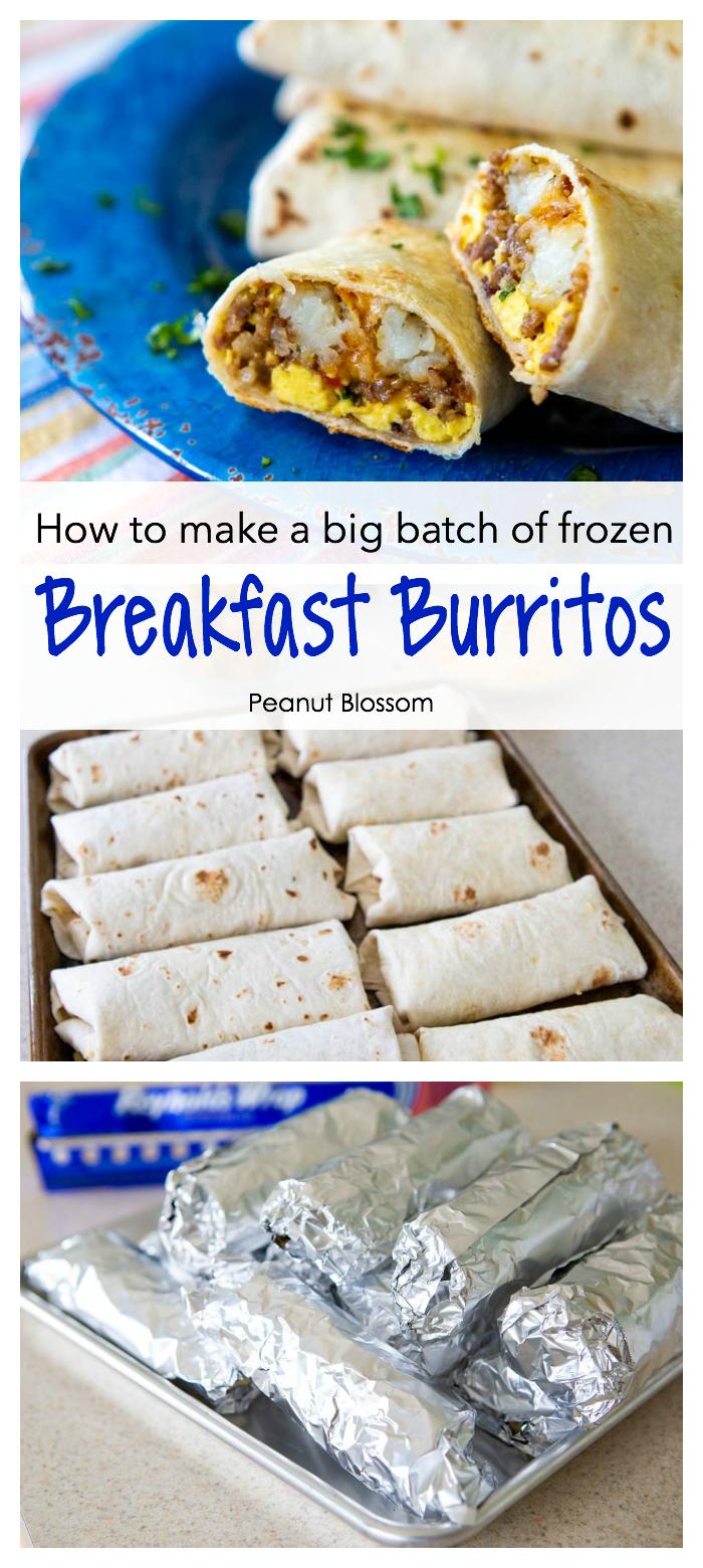 How to make breakfast burritos and how to freeze breakfast burritos