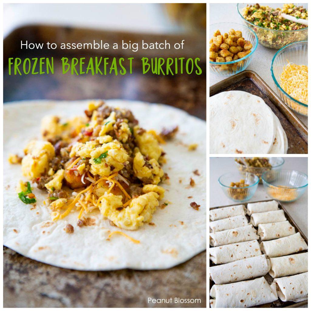 How to assemble a big batch of frozen breakfast burritos