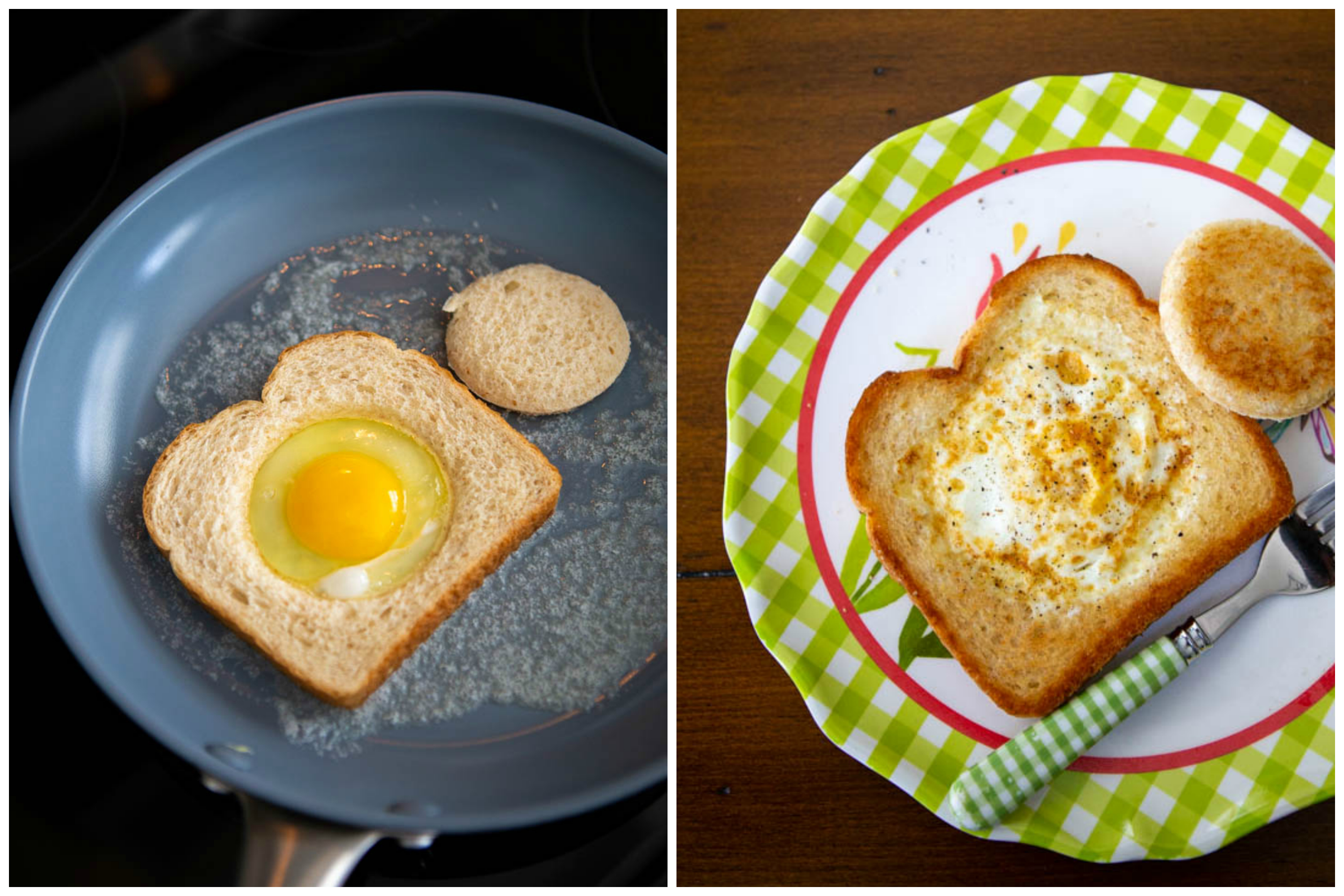 how to cook eggs in a basket