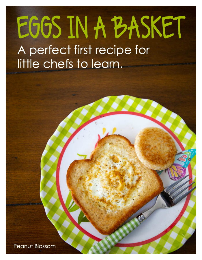 How to make eggs in a basket: Kids in the kitchen