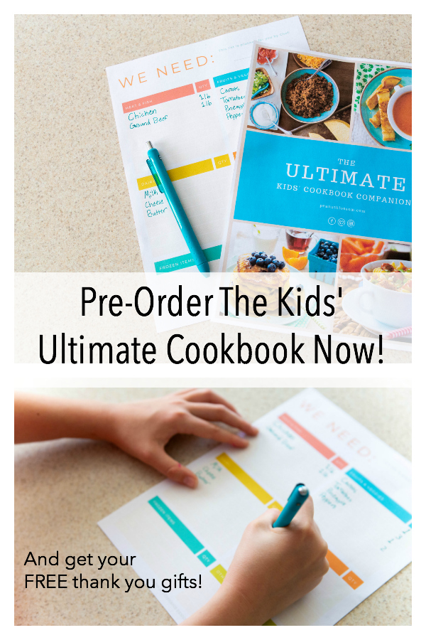 Pre-order The Ultimate Kids' Cookbook before August 21 and get these FREE gifts with purchase