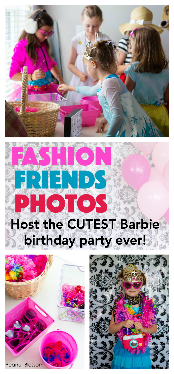 The cutest Barbie party ideas for hosting a fashion show party for girls.