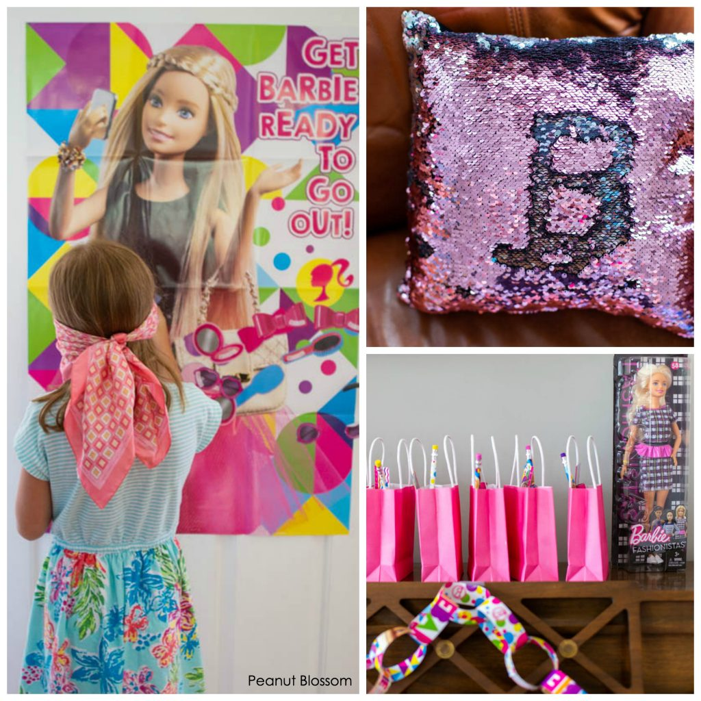 Adorable Barbie party accessories for the cutest birthday party ever.