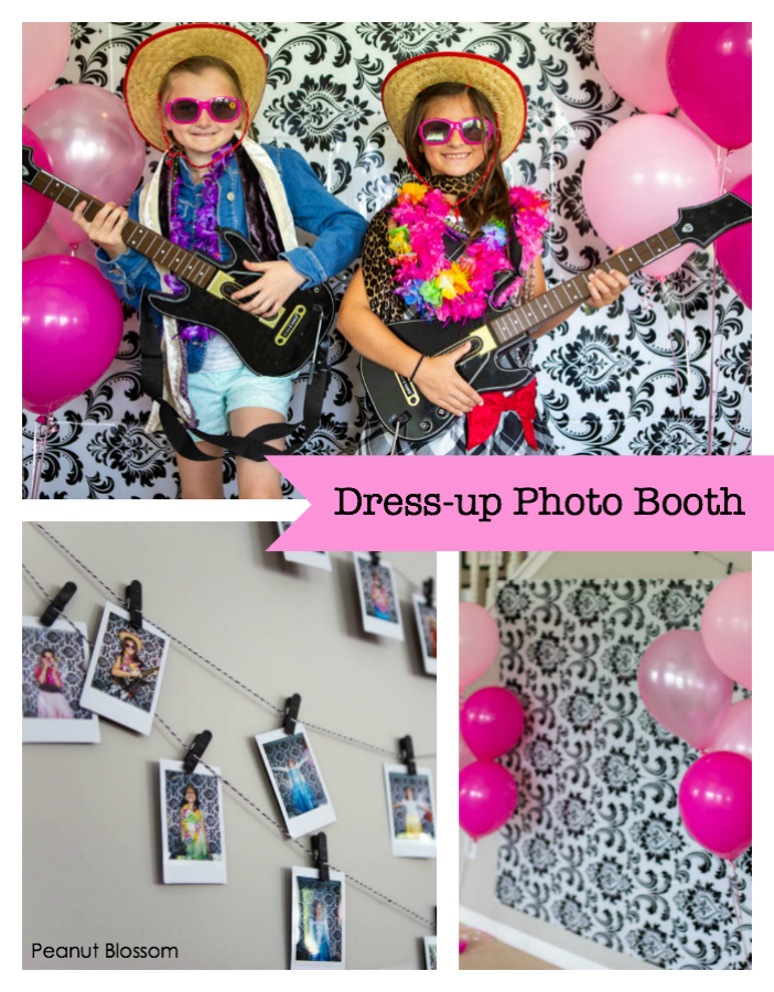 How to set up a Barbie themed dress-up photo booth for a birthday party.
