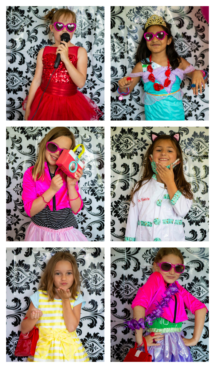 Adorable dress-up styles for a Barbie party.