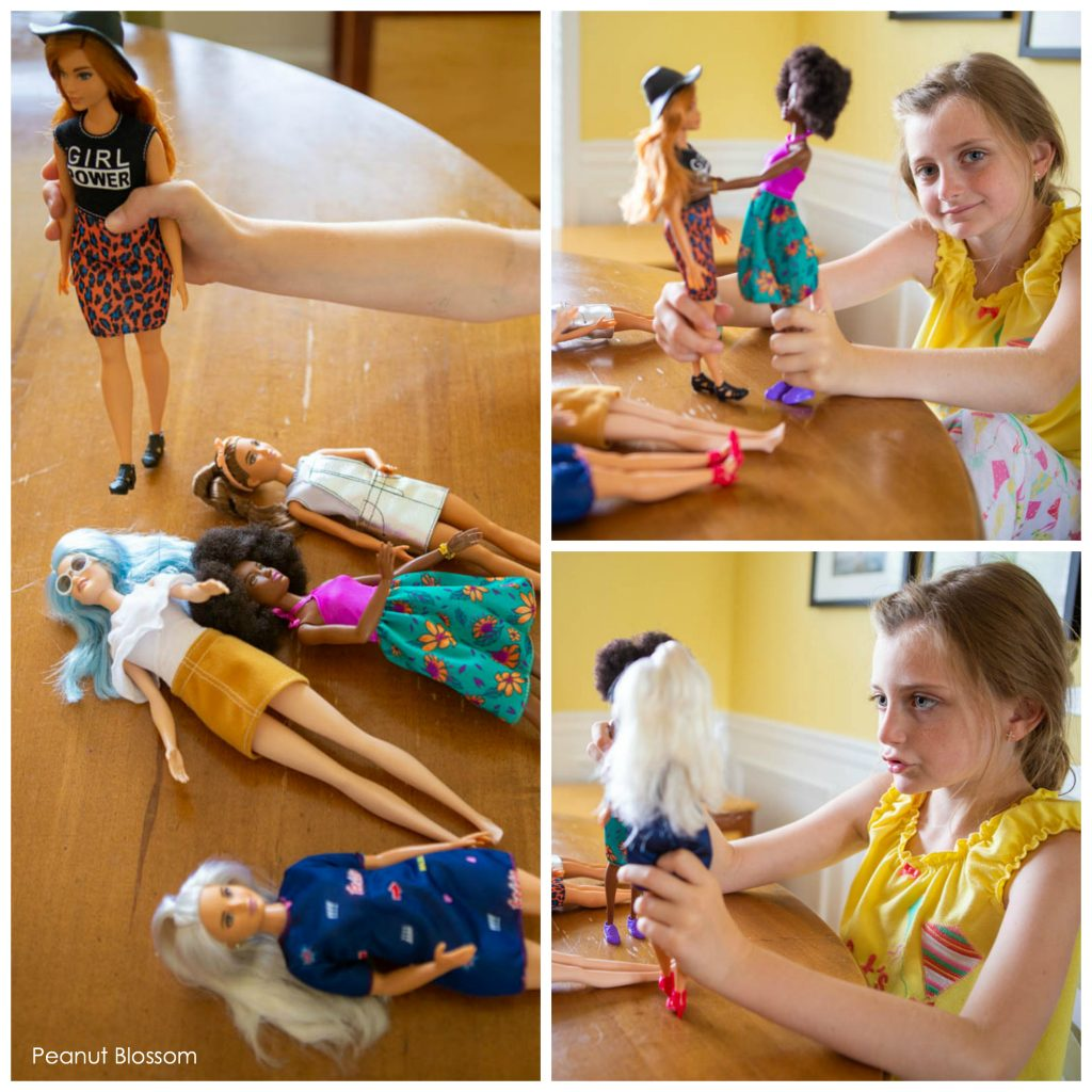 Barbie Fashionista dolls come in all sizes and colors.