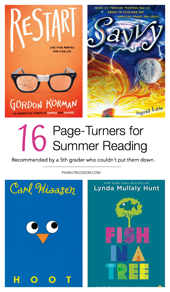 16 page turners for kids' summer reading challenge.