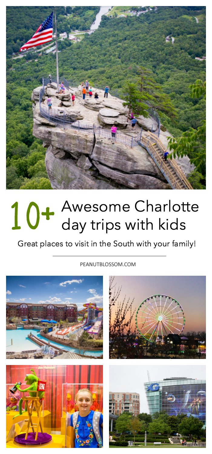 10 awesome Charlotte day trips for families. Great places to visit in the South with your kids.