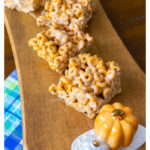 This is the perfect way to use pumpkin spice Cheerios if you love caramel