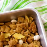 Hot apple pie Chex Mix is the perfect fall treat