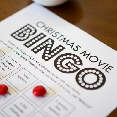 FREE fun for the whole family: Hallmark Christmas Movie bingo