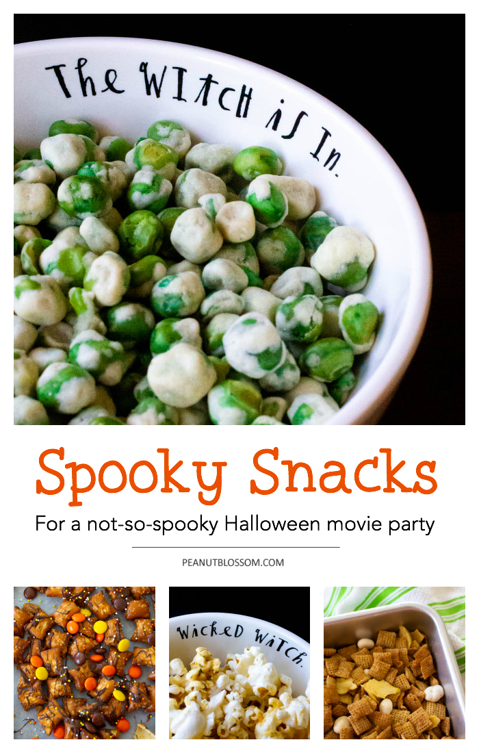 Halloween snacks for a not so spooky movie party