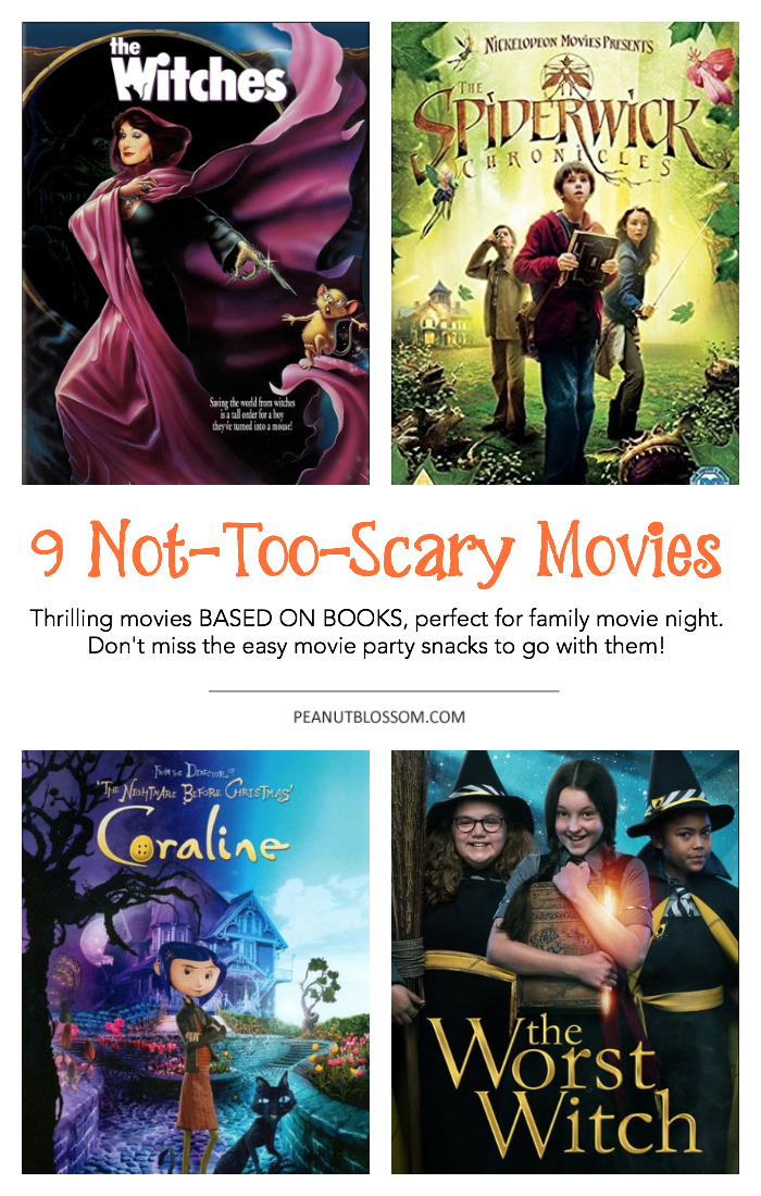 9 not too scary Halloween movies for kids and fun Halloween snacks to go with them