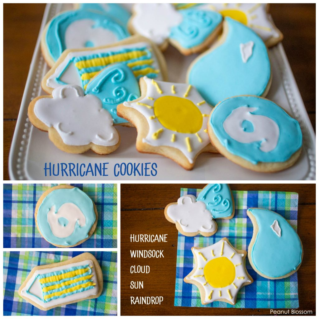 Hurricane cookies: an adorable sugar cookie to bake on a rainy day.