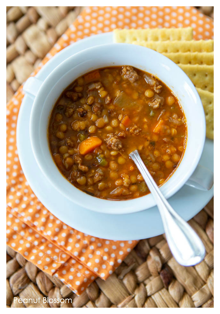 The best spicy sausage and lentil soup recipe for kids