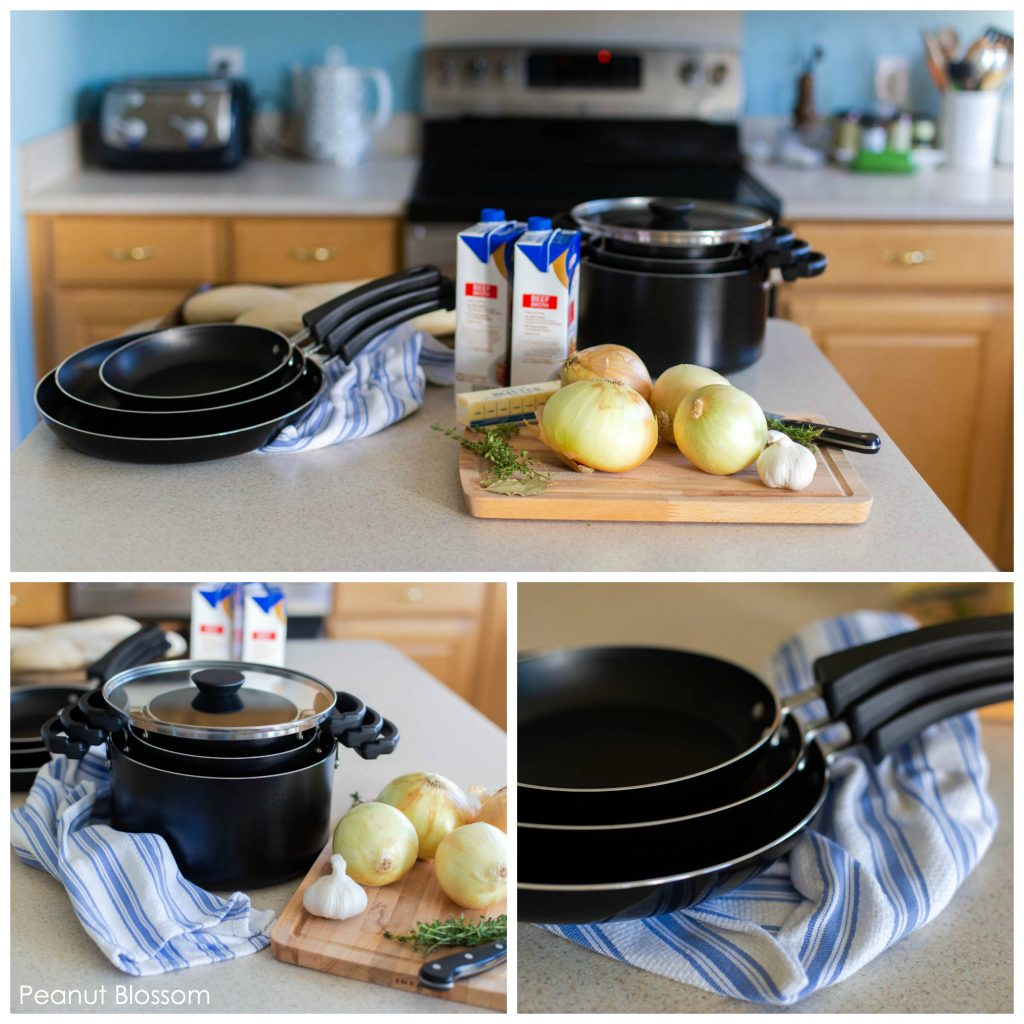 Kitchen organization ideas for cooking in a crowded kitchen: Use Farberware's Neat Nest cookware to contain the clutter