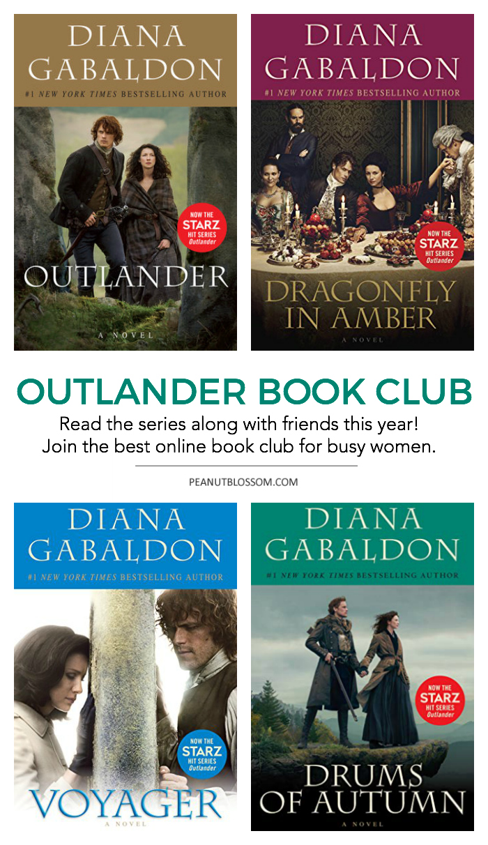 The Outlander Book Club: Join the Peanut Blossom Book Club as we read along through the Outlander Series together this year.